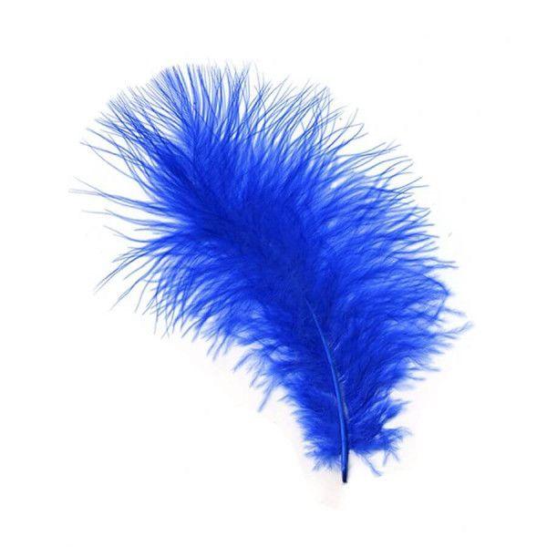 Fjer blå marabou 8g