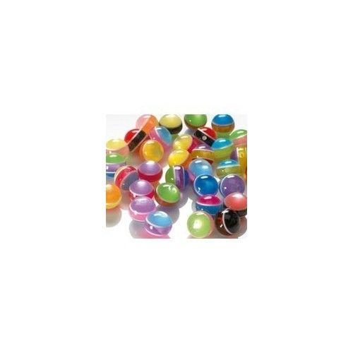Plastperler 10mm runde striber