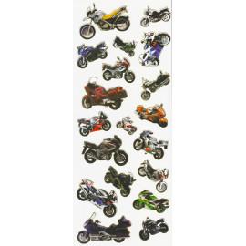 Stickers med motorcykel