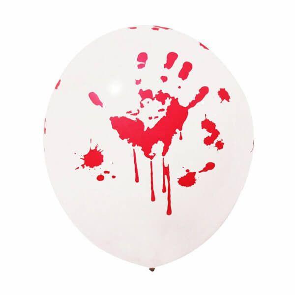 Ballon halloween blodige hænder 5 stk