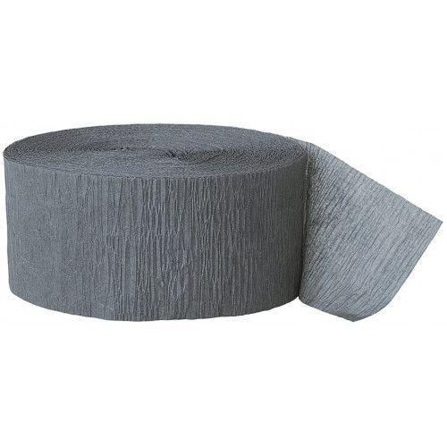 Crepepapir rulle, grå