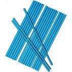 Papirsugerør blå metallic 25 stk
