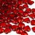 Pynte Diamanter, hjerter, rubin rød, 12 mm