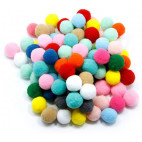 Pom Pom 15mm mix 150 stk