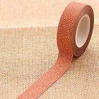 Glitter tape orange 10m
