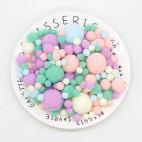 Pom Pom pastel farver mix 8-30 mm 150 stk