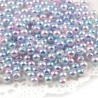 Perler runde 8mm regnbue 50 stk