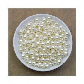 Perler runde imiteret elfenben hvide 4mm 14g