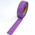 Glitter tape lilla 10m