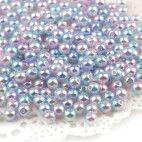 Perler runde imiteret 6mm regnbue 100 stk