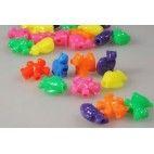 Perler mix med små dyr i farver