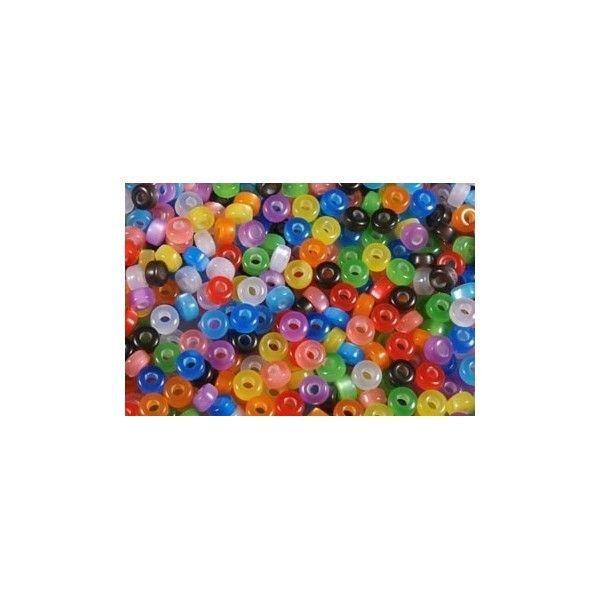 Perler plastik, 4x8 mm