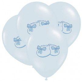 Balloner lyseblå med babysko