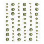 Selvklæbende halvperler oliven grøn mix 60 stk