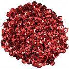 Pailletter, røde, 6mm 500 stk