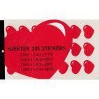 Stickers med hjerter hæfte