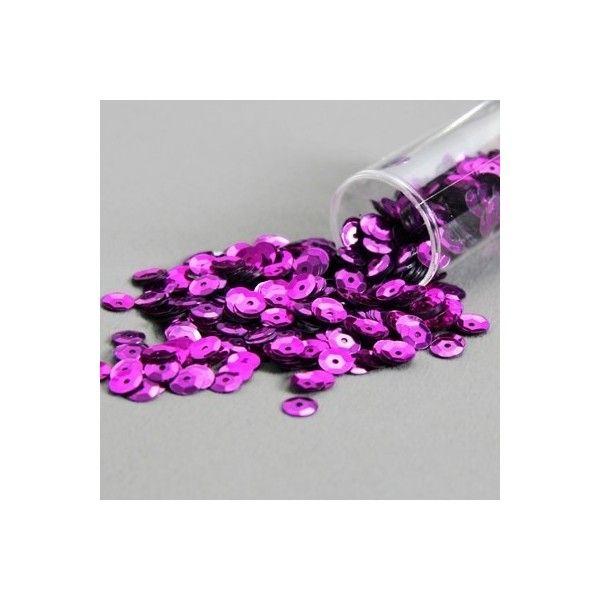Palietter pink 6mm