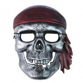 Pirat-maske-i-sølv