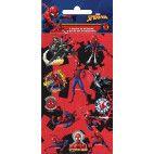Spiderman folie stickers ark, 6 stk