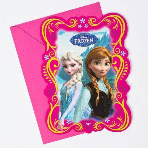 Frozen invitationer 6 stk
