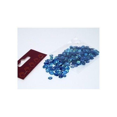 Pailletter, blå/lilla, 6mm