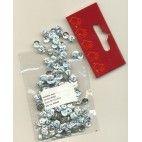 Pailletter, sølv perlemor, 6mm