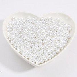 Perler runde 3mm imiteret hvide
