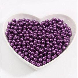 Perler runde 3mm imiteret lilla