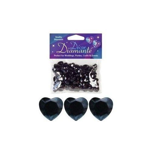 Diamanter, Sort hjerte, 12mm