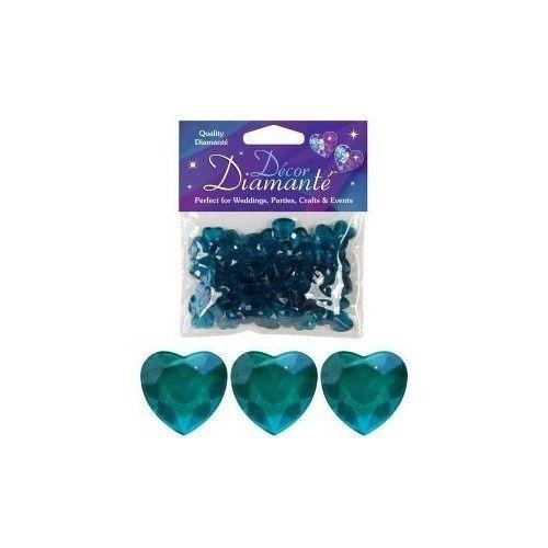 Diamanter, jadegrønt hjerte, 12mm