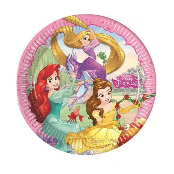 Disney Prinsesse tallerkner, 8 stk