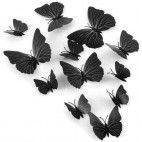 3D sommerfugle sorte 12 stk