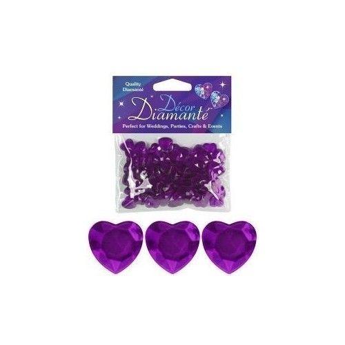 Pynte Diamanter, ametyst hjerte, 12mm