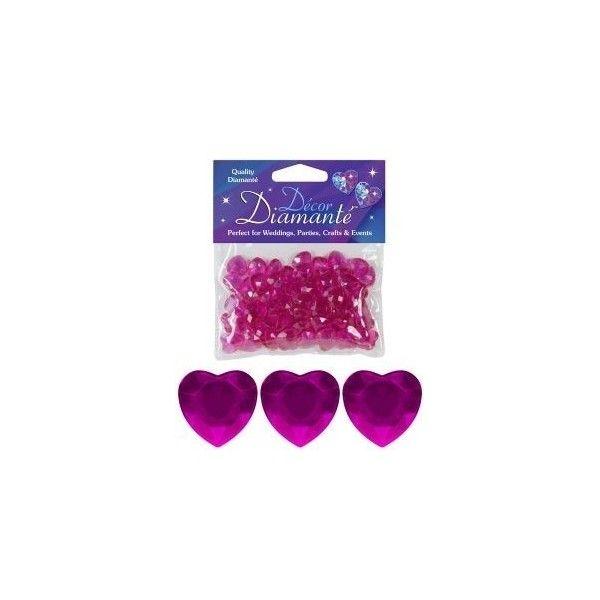 Diamanter, Cerise hjerte, 12mm