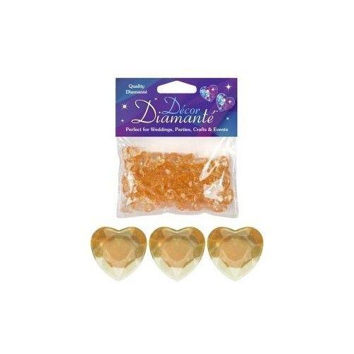Diamanter, Guld hjerte, 12mm