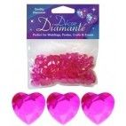 Diamanter, Hot pink hjerte, 12mm