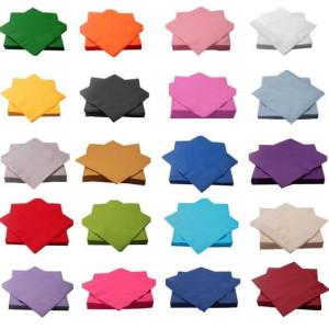 Ensfarvede servietter