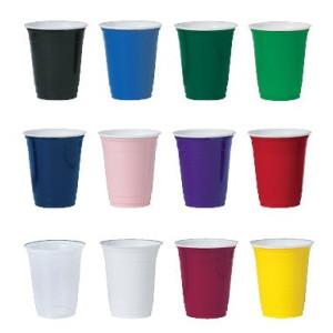 Ensfarvede kopper