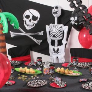 Pirat fødselsdag borddækning