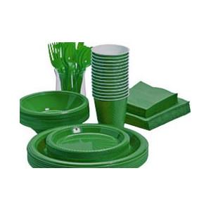 Grøn engangsservice