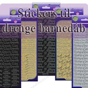 Stickers til drenge barnedåb
