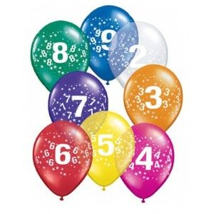 Balloner med tal