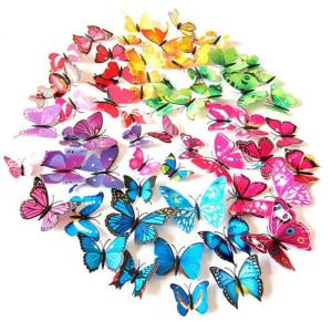 3D sommerfugle wallstickers