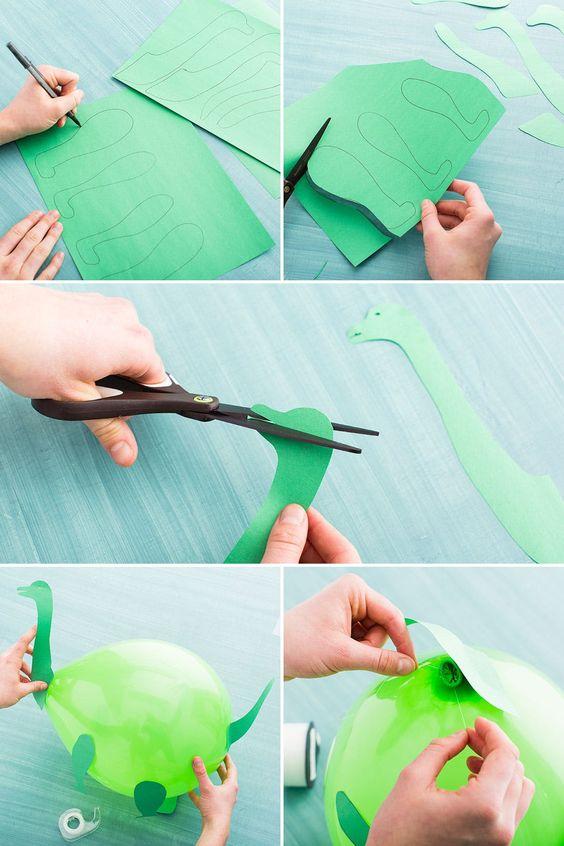 Lav selv dinosaur balloner